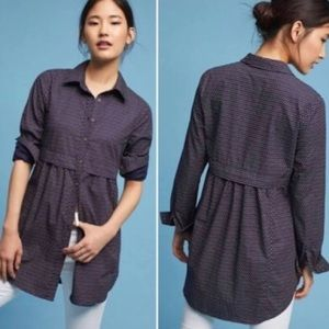 Anthropologie Maeve Aled Button Down Tunic